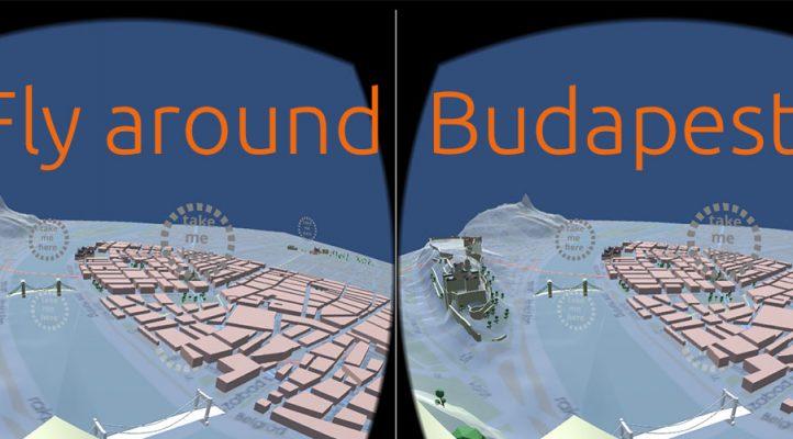 fly around Budapest in VR