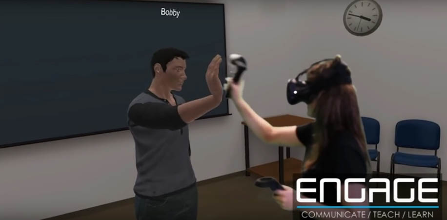 Engage VR users having fun